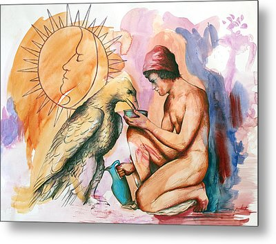 Ganymede And Zeus Metal Print