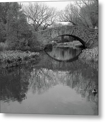 Gapstow Bridge - Central Park - New York City Metal Print by Holden Richards