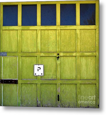 Garage Door Metal Print by Ethna Gillespie