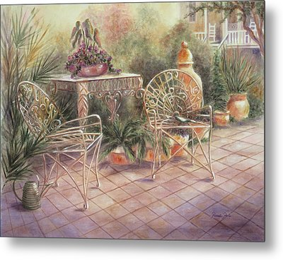 Garden At Linwood  Metal Print