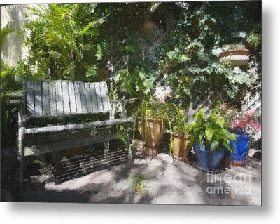 Garden Bench Metal Print by Sheila Smart Fine Art Photography