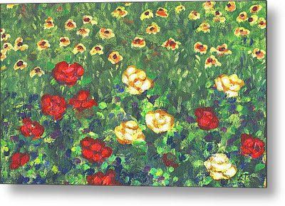 Garden Bloom Two Metal Print by Linda Mears