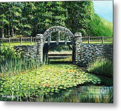 Garden Bridge Metal Print by Paul Walsh