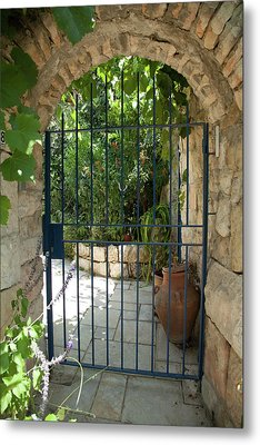 Garden Door Entrance Metal Print by Yoel Koskas