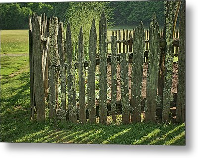Metal Print featuring the photograph Garden - Fence by Nikolyn McDonald