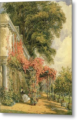 Garden Front Of Mr Robert Vernon's House At Twickenham Metal Print by John James Chalon