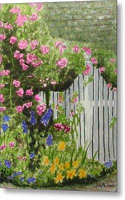 Garden Gate Metal Print by Ally Benbrook
