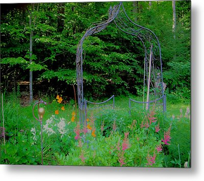 Metal Print featuring the photograph Garden Gate by Susan Carella