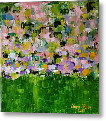 Metal Print featuring the painting Garden Glory by Judith Rhue