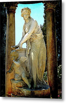 Metal Print featuring the photograph Garden Goddess by Lori Seaman