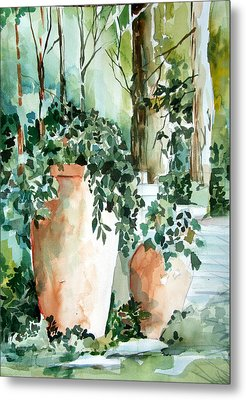 Garden In Capri Metal Print by Mindy Newman