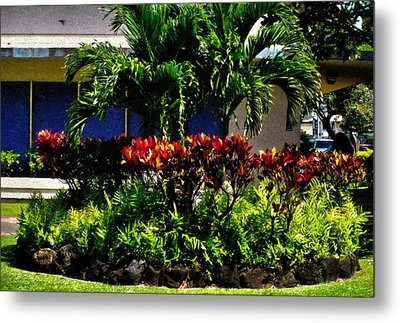 Garden Landscape 4 In Abstract Metal Print