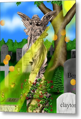 Garden Landscape IIi A - Where The Dead Sleep Metal Print