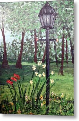 Metal Print featuring the painting Garden Light by Debbie Baker