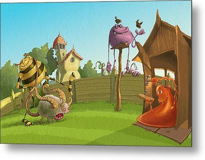 Garden Monsters Metal Print