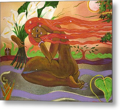 Garden Of Eden Metal Print by Lee Ransaw