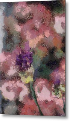 Metal Print featuring the mixed media Garden Of Love by Trish Tritz