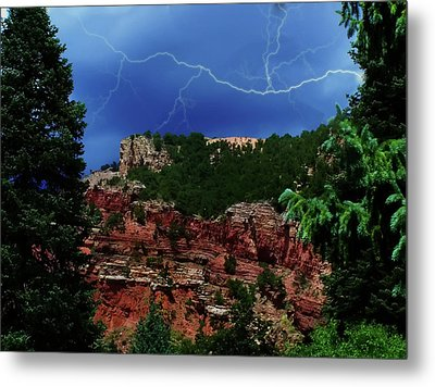 Metal Print featuring the digital art Garden Of The Gods by Chris Flees
