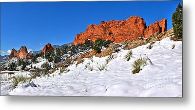 Metal Print featuring the photograph Garden Of The Gods Red And White by Adam Jewell