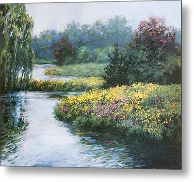 Garden On Water Metal Print