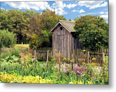 Garden Outhouse At Old World Wisconsin Metal Print by Christopher Arndt