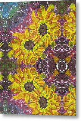 Garden Owls Metal Print by Maria Watt