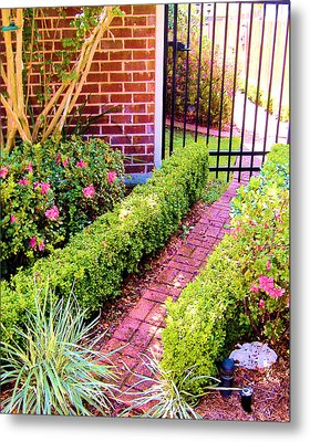 Garden Path Metal Print by Diane Ferguson