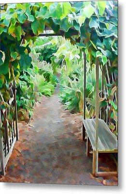 Garden Path Metal Print by Pamela Walton