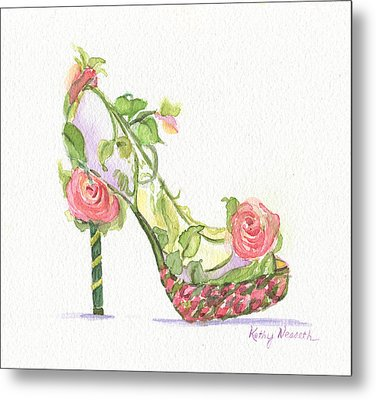 Garden Shoe Metal Print by Kathy Nesseth