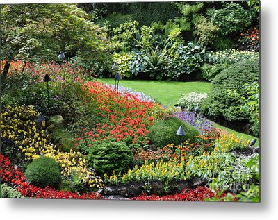 Garden Tapestry 4 Metal Print by Tanya  Searcy