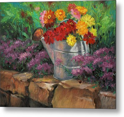 Garden Treasure Metal Print by Linda Eades Blackburn