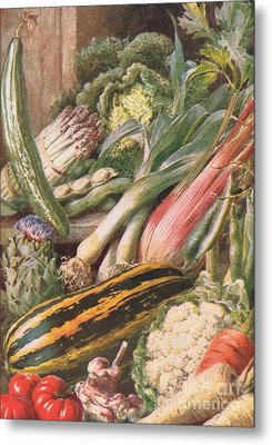 Garden Vegetables Metal Print by Louis Fairfax Muckley