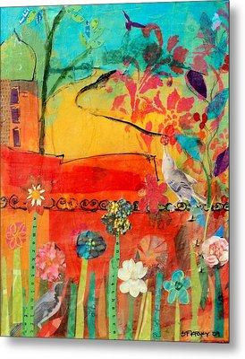 Garden Walls Metal Print by Suzanne Kfoury