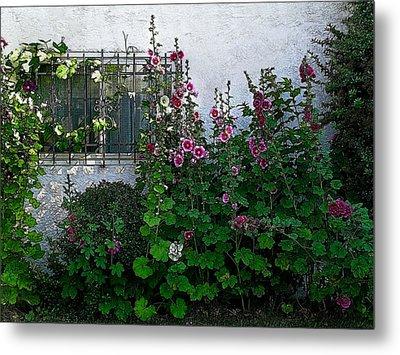 Garden Window Metal Print by Kathleen Stephens