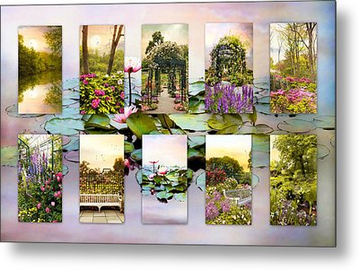 Garden Windows Collage Metal Print by Jessica Jenney