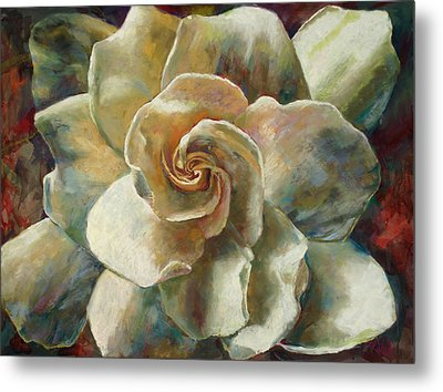Gardenia Metal Print by Billie Colson