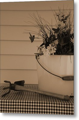 Gardening Metal Print by Utopia Concepts
