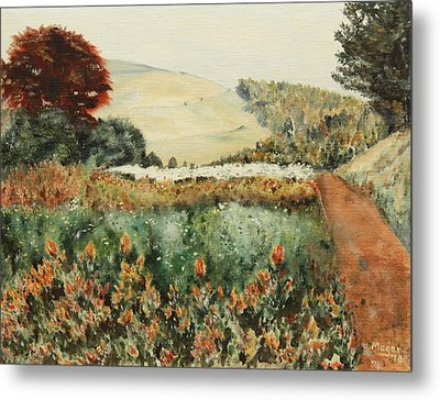 Gardens At Monticello Metal Print by Alan Mager