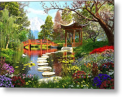 Gardens Of Fuji Metal Print by Dominic Davison