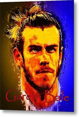 Gareth Bale Metal Print by Edelberto Cabrera