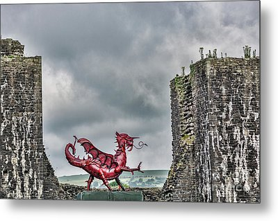 Gareth The Dragon 1 Metal Print by Steve Purnell