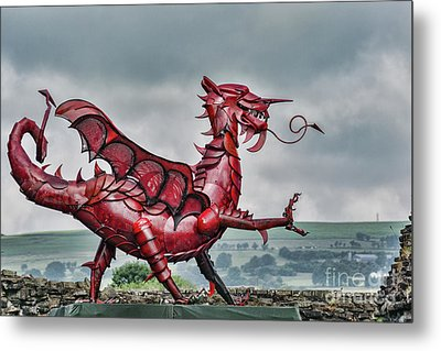 Gareth The Dragon 2 Metal Print by Steve Purnell