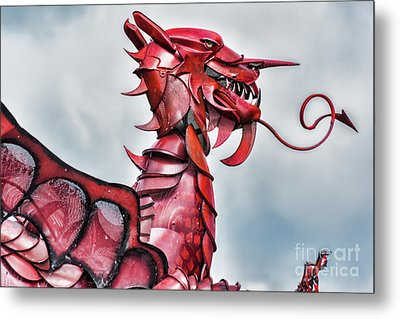 Gareth The Dragon 5 Metal Print by Steve Purnell