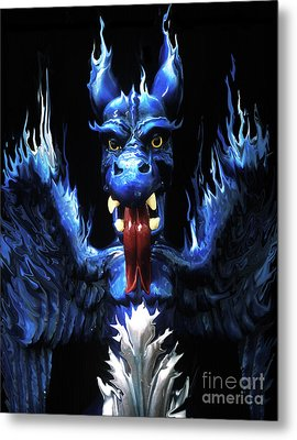 Metal Print featuring the photograph Gargoyle by Jim and Emily Bush