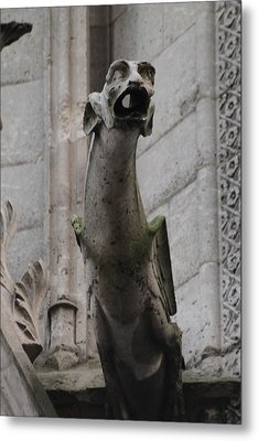 Metal Print featuring the photograph Gargoyle Notre Dame by Christopher Kirby