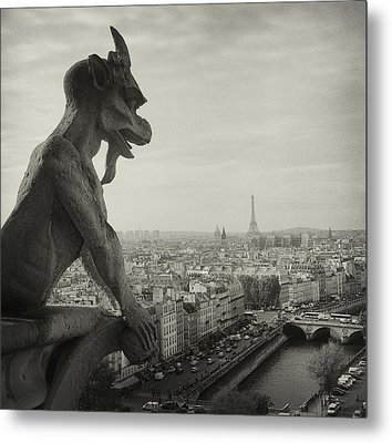 Gargoyle Of Notre Dame Metal Print by Zeb Andrews