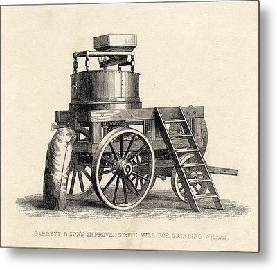 Garrett And Son S Improved Stone Mill Metal Print