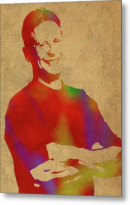 Gary Johnson Libertarian Politician Watercolor Portrait Metal Print