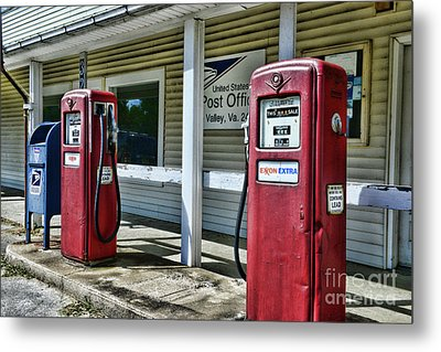 Metal Print featuring the photograph Gas And Mail 1 by Paul Ward