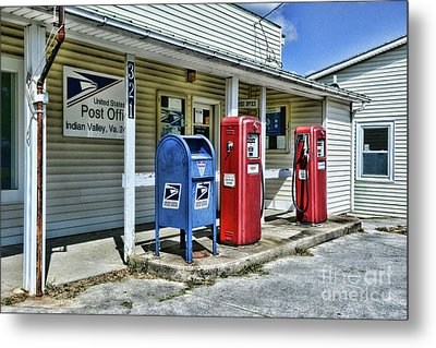 Metal Print featuring the photograph Gas And Mail by Paul Ward